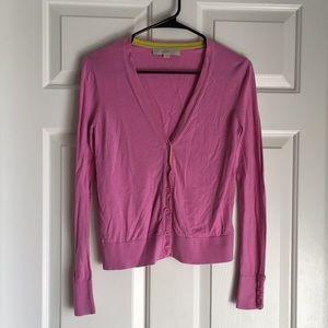 LOFT Light Pink LS Button Down Cardigan - Sz S